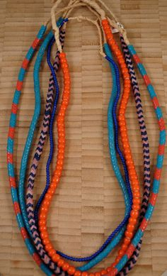 A statement necklace for summer -Five Strands African Bead Mix -B-. $50.00, via Etsy.