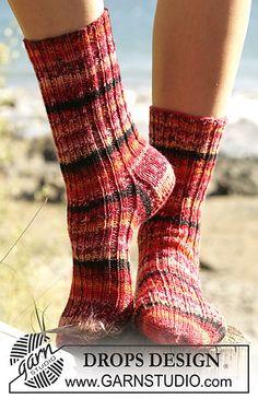 socks knitted in rib