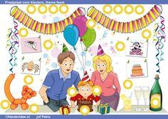 Interactieve praatplaat thema feest, kleuteridee by juf Petra van Ginkel, allerlei filmpjes bij de kinderboekenweek 2014