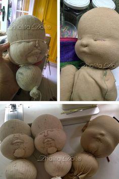 """Eu voltei a fazer as bonecas! Estava doida pra aprender a costurar em """"soft sculpture"""" e resolvi tentar. A parte de esculpir fluiu bem na..."""
