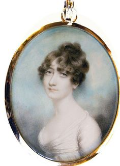 A pretty portrait of a young Lady, called Jane Countess ....?, by Andrew Plimer