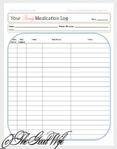 7 Best Images of Printable Medication List For Adult - Free Printable Medication Log Sheets, Medication List Form and Free Printable Medication Log Template Printable Designs, Free Printables, List Template, Templates, Mickey Mouse Template, Funeral Program Template Free, Blank Family Tree Template, Medication Log, Good Wife