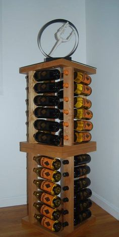 """JRS """"Jr"""" Tower by WeberWineStax holds 48 bottles"""