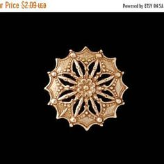 50% Off Sale Copper Rose Gold Plated Brass Fancy Victorian Style Star Flower Stamping 36mm One ( 1 ) Perfect for Steampunk Art Made in the U