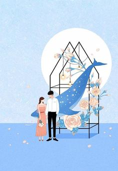 how to draw things Anime Love Couple, Couple Art, Couple Illustration, Illustration Art, Illustrations, Cute Love Pictures, Sketch Painting, Kawaii Art, Anime Scenery