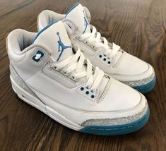wholesale dealer 9c08b 73d7c Nike Air Jordan 3 III Retro Harbor Blue Boarder Blue Womens Sz 9 315296-142