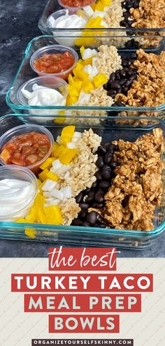 If you want to have a quick high protein lunch or dinner that you can make on Sunday for the week, take a look at this Turkey Taco Bowl. I recommend whipping up 5 of these bowls next time you are meal prepping for the week! Organize Yourself Skinny | Healthy Lunch Recipes | Healthy Meal Prep Recipes | Healthy Recipes | Quick and Easy Dinner Recipes | Healthy Family Recipes | Healthy Party Recipes Healthy Freezer Meals, Healthy Family Meals, Healthy Dinners, Family Recipes, Meal Prep Bowls, Easy Meal Prep, Healthy Meal Prep, Healthy Food, Clean Dinner Recipes