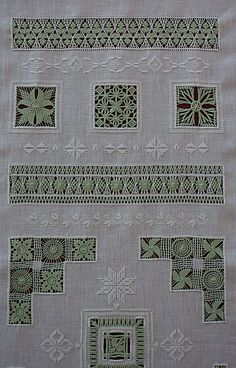 Hardanger Embroidery, Hand Embroidery Stitches, White Embroidery, Hand Embroidery Designs, Embroidery Techniques, Cross Stitch Embroidery, Smocking Patterns, Drawn Thread, Bargello