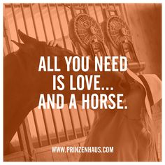 www.prinzenhaus.com ALL YOU NEED IS LOVE... AND A HORSE.