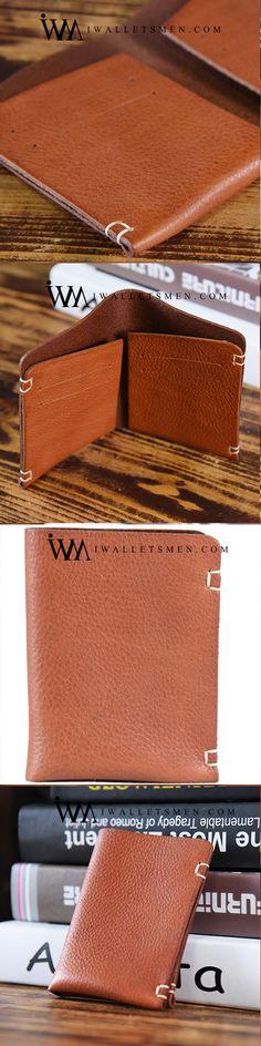 HANDMADE LEATHER MENS COOL WALLET MEN SLIM WALLETS FRONT POCKET WALLET FOR MEN
