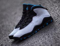854d9a8a76c Air Jordan 10 Retro White Dark Powder Blue-Black. Share more Jordan release