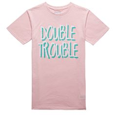DT3 Tee Pink Double Trouble, Cricut, Tees, Mens Tops, Pink, T Shirt, Shopping, Clothes, Women