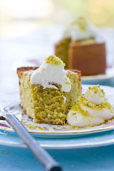 Pistachio Cake by tartineandapronstrings #Cake #Pistachio #tartineandapronstrings
