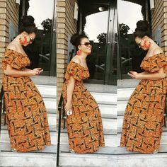 Nadia Buari Ankara Dress