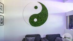 Voor de hormoonfactor in Amsterdam heeft Mr. Moss dit yin yang mosobject gemaakt