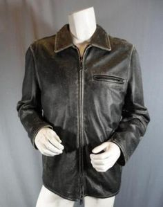 Desperate Housewives        This unique item is from the television show Desperate Housewives.    This is Mike Delfino's screen worn wardrobe item.        Season:  Two    Episode Title:  224         Items: Zip-Front, Leather Jacket      Wardrobe Details          JACKET   Brand: Rogue      Size: Large      Material: Leather      Color: Black      Condition: Signs Of Wear Caused During Production      Original Retail Price: Not Available