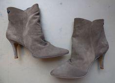 Boots femme à talons cuir gris IKKS neuves - T41