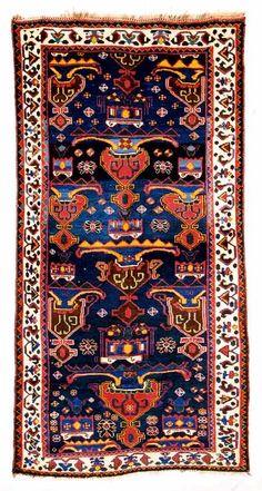 Lori Rugs / Luri Rugs: 3rd quat.19th C. Luri Vase Rug Hazara Gallery