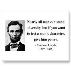Abraham Lincoln Quote so true