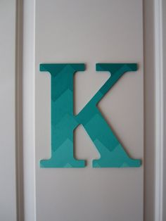 Chevron Painted Wooden Letter by SpellingSinclair on Etsy (This is my Etsy shop!)