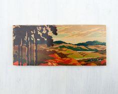Door nummer Art blok 'herfst zonsondergang door StudioLiscious