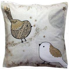 """Coussin déco"""" Jolis birds"""" 45x45cm.Les Petites Kasko http://www.lespetiteskasko.com/"""