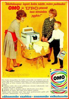 Arkistojeni kätköistä kauniita, pääosin värillisiä mainoksia huhti- sekä kesäkuun Kotiliesilehdistä 52 vuoden takaa.  ... Vintage Ads, Vintage Posters, Old Commercials, Good Old Times, Historian, Travel Posters, Finland, Album Covers, Nostalgia