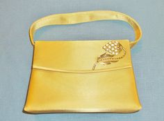 Restyled Purse Gold Rhinestone Accent Glam Evening Handbag Wedding Bridal Party Special Occasion Gift for Her Birthday Christmas