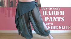 Harem Pants with Slits on Side