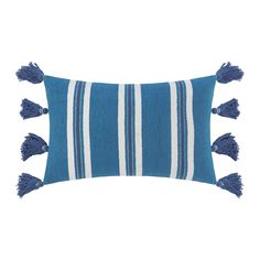 Earn your stripes with this Thick Stripes Tassel cushion from A by Amara. Brightly coloured and playfully finished with tassels, this cushion is an instant pick-me-up. There's a matching throw a Cornwall Cottages, Cream Cushions, Bright Colors, Colours, Garden Cushions, King Size Duvet Covers, Simple Website, Bed Runner, Stripes Design
