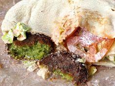 Zabak's falafel sandwich, yum