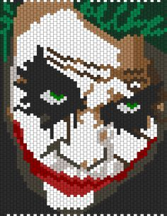 Batman Heath Ledger Joker bead pattern