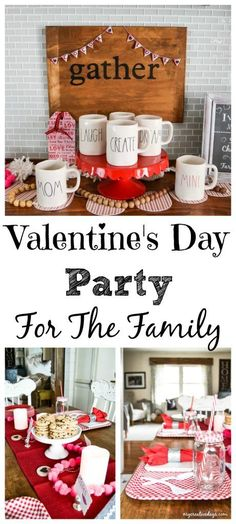 Valentine's Day Party - Looking for a fun way to celebrate Valentine's Day? This Valentine's Day Party tablesape and cocoa bar will be a big hit with the entire family.