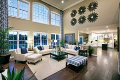 Entertain with ease whether you are in the family room or the kitchen. (Toll Brothers at Tanglewood Hills, IL)