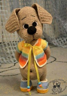 100 Amigurumi Crochet Dogs Patterns - Amigurumi World Amigurumi knitting toy dog models, all pretty nice toy dog models knitting recipes are waiting for you. In this article we will introduce you the best models of amigurumi crochet dog patterns. Crochet Dog Patterns, Amigurumi Patterns, Amigurumi Doll, Knitting Patterns, Amigurumi Tutorial, Cute Crochet, Crochet Dolls, Crochet Baby, Crochet Mignon