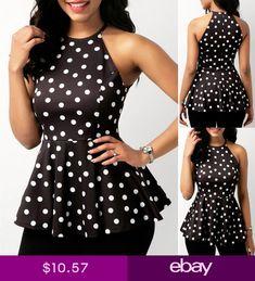 Fashion Women Sleeveless Loose Blouse Casual Shirt Summer Chiffon Tops T-Shirt Chic Outfits, Fashion Outfits, Womens Fashion, African Fashion Dresses, Classy Dress, Chiffon Tops, Chiffon Shirt, Blouse Designs, Blouses For Women