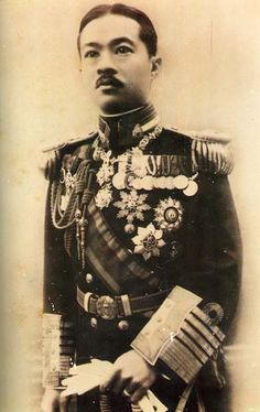 Prince Paribatra Sukhumbhand of Siam , Prince of Nakorn Sawan. He served as Chief of Staff of the Royal Thai Army, Commander of the Royal Thai Navy, Naval Minister, Army Minister, Defense Minister, Interior Minister, and as a Privy Counsellor to both King Vajiravudh and King Prajadhipok.After the 1932 coup that ended the absolute monarchy in Siam, he was exiled from the kingdom to Bandung, Indonesia, which was then under the Dutch administration. He died in 1944