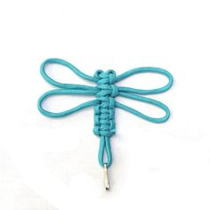 This is a dragonfly made from paracord!