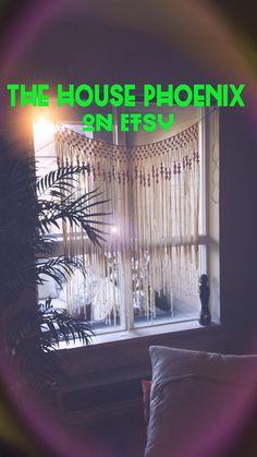 Boho Macrame Curtain Window Covering by TheHousePhoenix on Etsy, $69.00