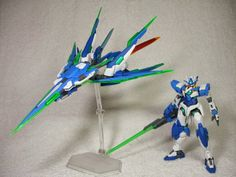 HG 1/144 PPGNQ-0000/A Amazing Force Qan[T] Custom Build by Reitou Kokugami This is one great build, I like that the modeler used 00 parts...
