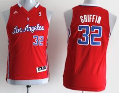 Adidas NBA Kids Los Angeles Clippers 32 Blake Griffin New Revolution 30  Swingman Red Youth Jersey d2ed1de7f