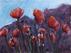 Poppy's 30x40 cm acrylic canvas Anthony van Gelder Pittore