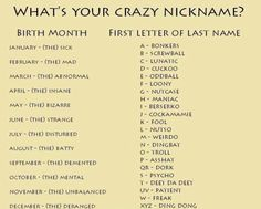 your nickname: