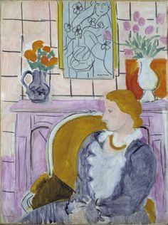 Henry Matisse, Woman in Blue in Front of a Fireplace, 1937