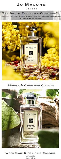 Jo Malone Perfumes - Combine Mimosa & Cardamom with Wood Sage & Sea Salt