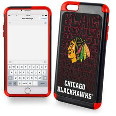Forever Collectibles Chicago Blackhawks iPhone 6 Plus Case ($25) ❤ liked on Polyvore featuring accessories, tech accessories and red