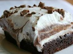 Brownie Refrigerator Cake This is going to be a must try!