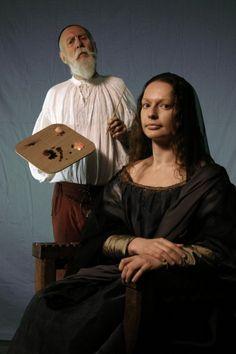 Mona Lisa and Leonardo da Vinci - costume Pauline Loven, photo Nick Loven. Lydia Stanisazek and Jack Greene.