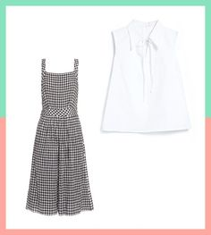 See how to style a gingham pinafore dress.