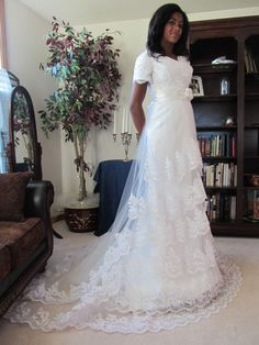 Dottie modest wedding dress